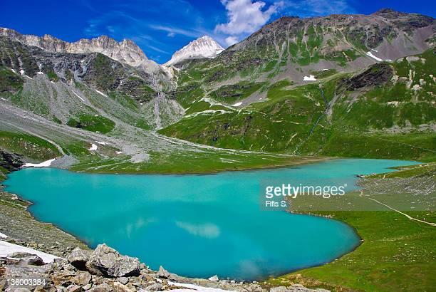 white lake - savoie stock pictures, royalty-free photos & images