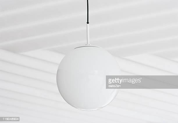 White lamp globe