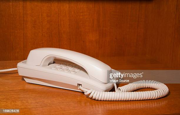 white landline telephone - 加入電話 ストックフォトと画像