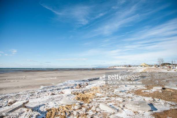 White Landscapes - Frozen Beach of the Saint-Lawrence Gulf