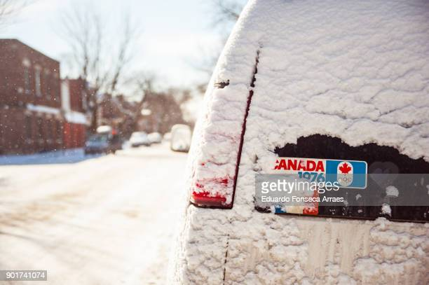 white landscapes - bumper sticker stock photos and pictures
