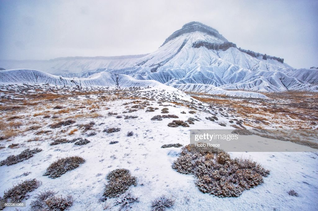 White Landscapes - snow covered mountain in Colorado : Stock Photo