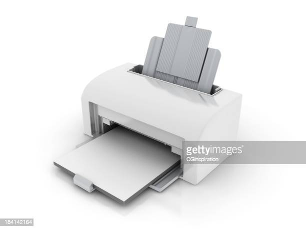 a white laser printer with no writing - printing out stock pictures, royalty-free photos & images