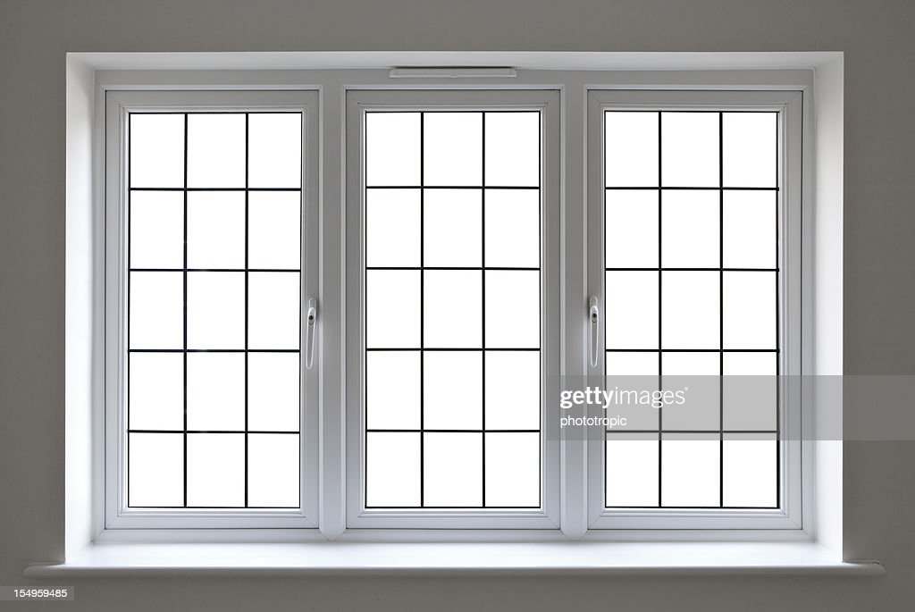 white Bleiglas Fenster : Stock-Foto