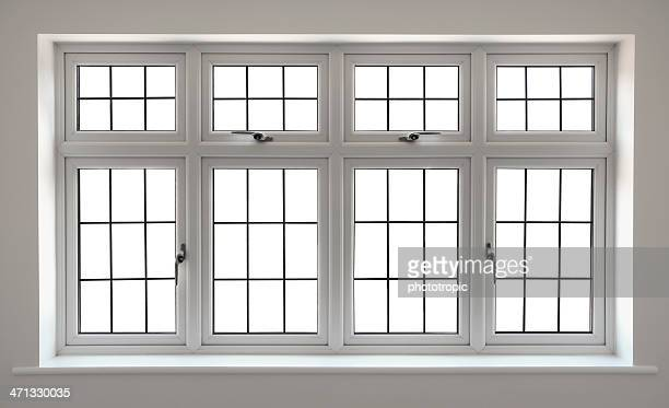 white Bleiglas Fenster mit clipping path