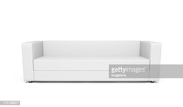 sofá de couro branco - sofá - fotografias e filmes do acervo