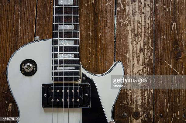 white les paul custom guitar - classic rock stock pictures, royalty-free photos & images