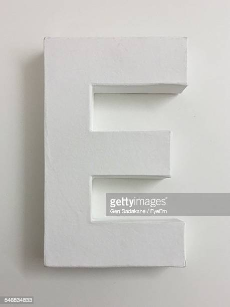 White Letter E On White Background