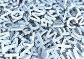 White letters. 3D Illustration.