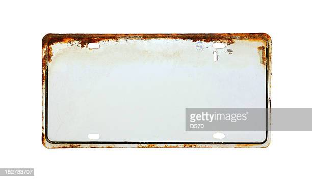 White License Plate