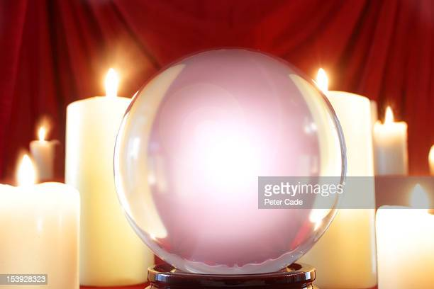 White light within crystal ball