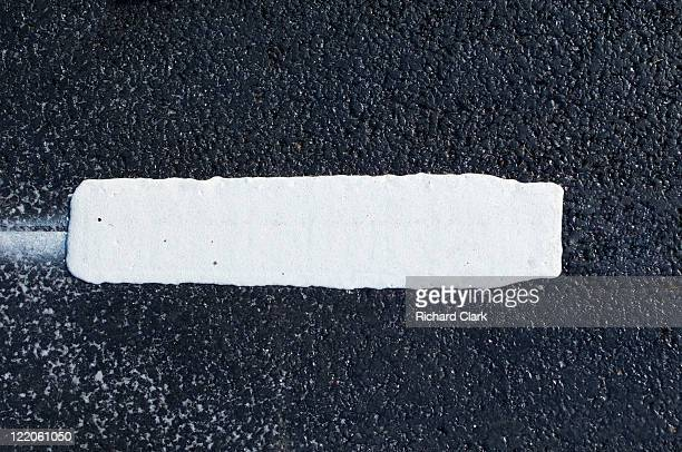 White lines in the road
