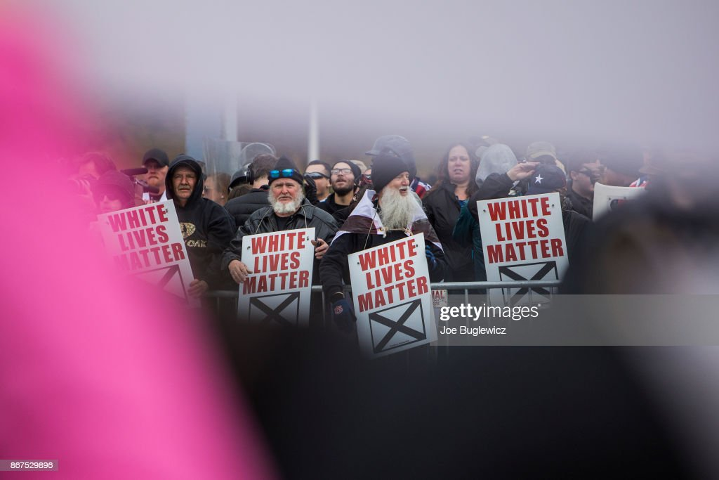 White Lives Matter Protestors Demonstrate During A Rally On October News Photo Getty Images