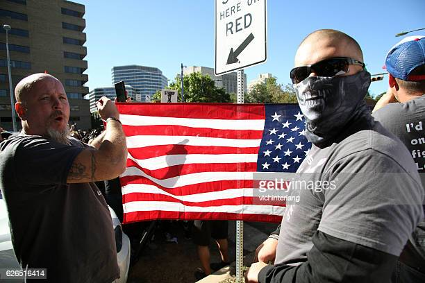 white lives matter rally, austin, tx, nov. 19, 2016 - racism stock pictures, royalty-free photos & images