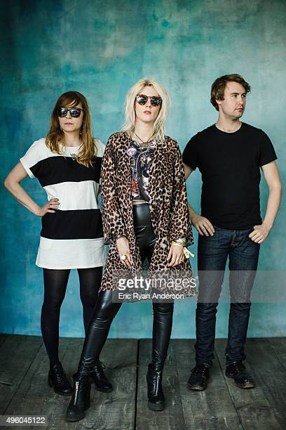 White Lung poses for a portrait at the Governors Ball 2015 Music Festival for Billboard Magazine on June 6 2015 in New York City
