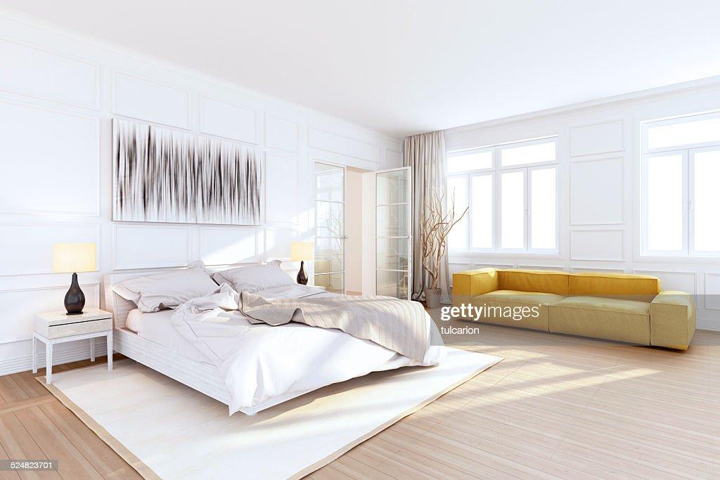 White Luxury Bedroom Interior