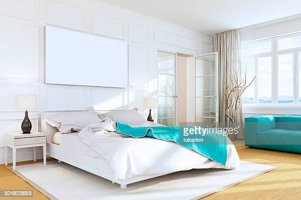 White Luxury Bedroom Wall Art