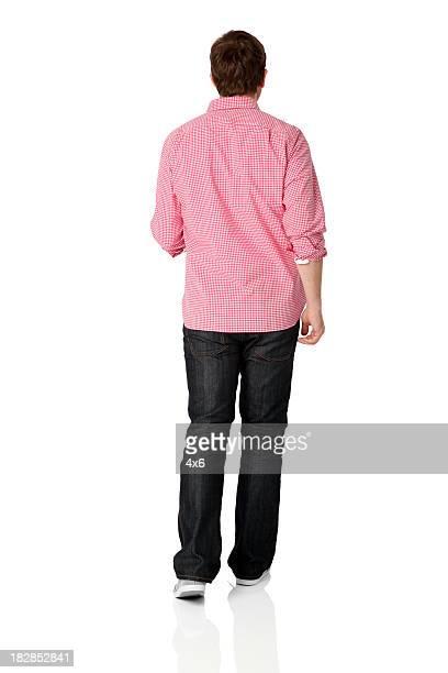 white man walking away - pink pants stock pictures, royalty-free photos & images