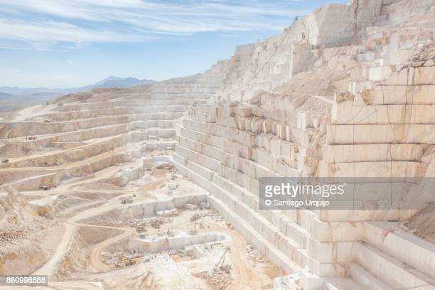 White marble quarry in production