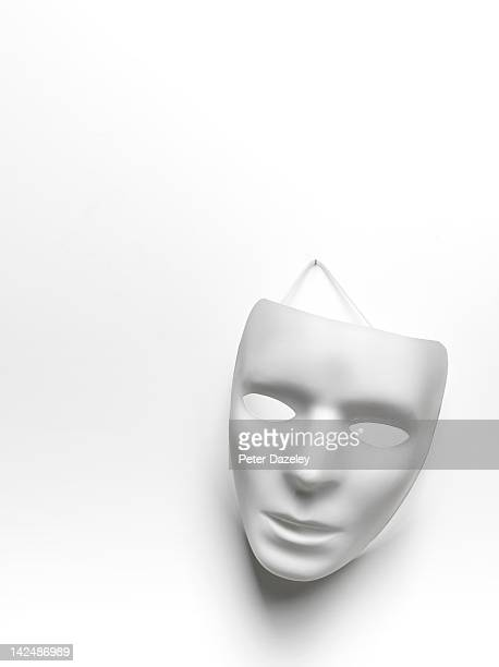 White mask with copy space, upright