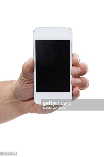 White Mobile Smart Phone In Hand