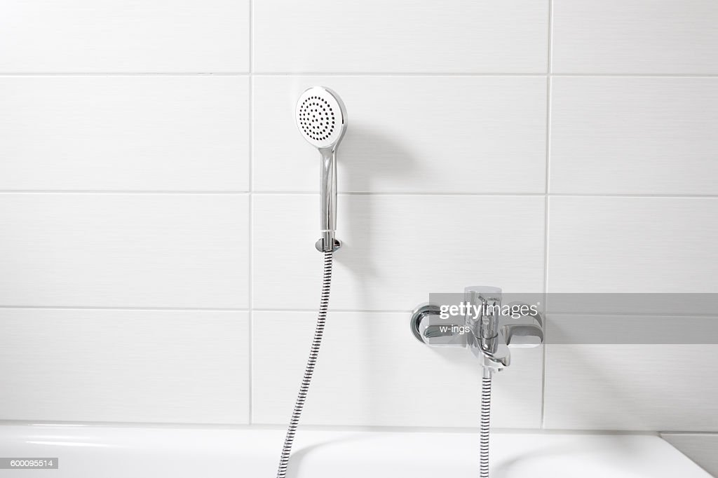 White Modern Bathroom Stock Photo