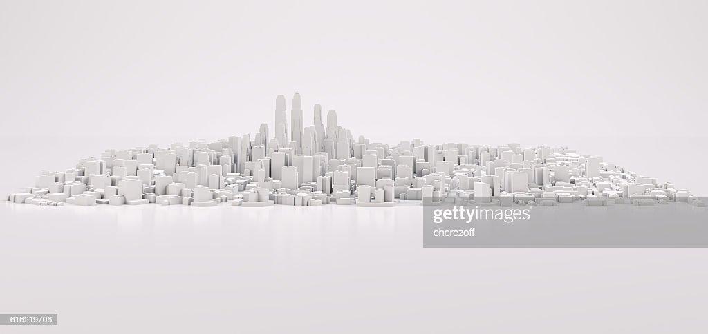 White modern city : Stock Photo