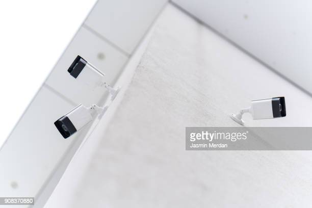 White modern cozy smart house closeup exterior