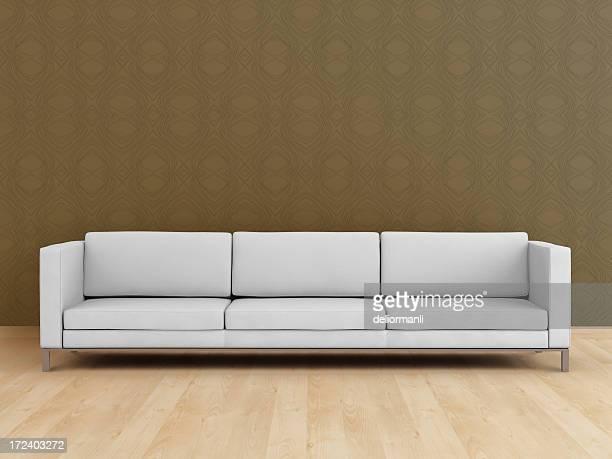 blanco moderno sofá (xxl - ancho fotografías e imágenes de stock