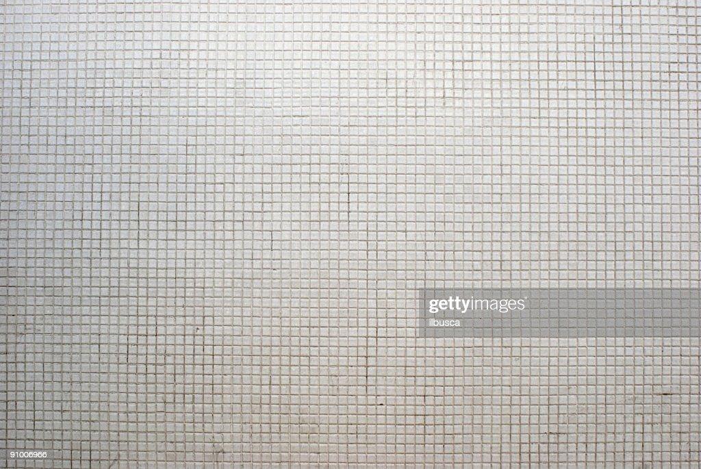 White mosaic background texture : Stock Photo