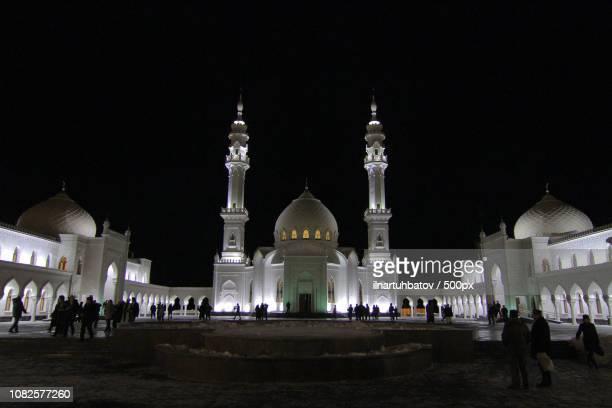 White Mosque at Bolgar. Winter night