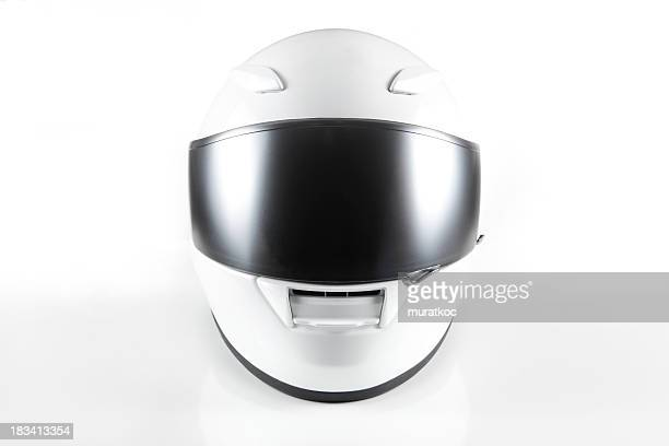 white motorcycle helmet - sports helmet stock pictures, royalty-free photos & images