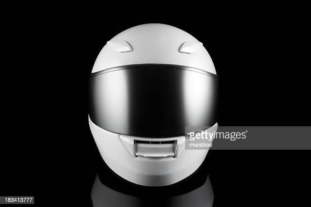 ホワイトモーターサイクルヘルメット