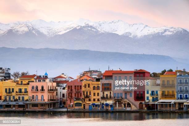 White Mountains, Chania Harbour, Chania, Crete, Greece