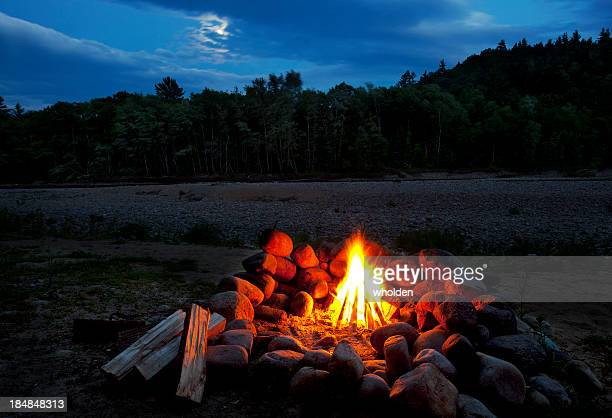 White Mountains Moonlit Campfire