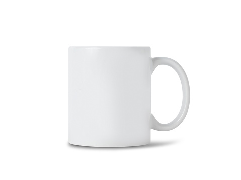 White mug cup mockup for your design isolated on white background with clipping path 1169792828