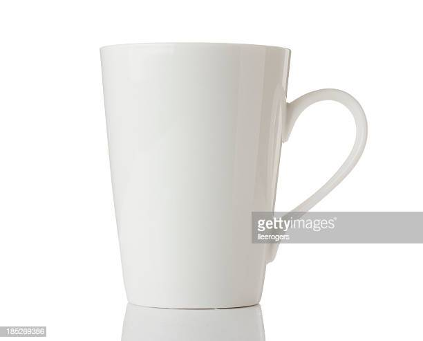 white mug isolated on a white background - mug stock pictures, royalty-free photos & images