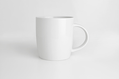 white mug isolated with clipping path 1043832666