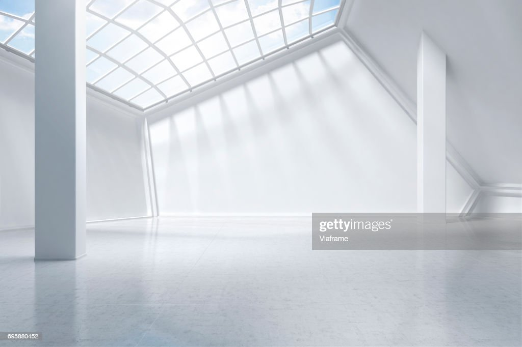 white museum digitally generated. : Stock-Foto