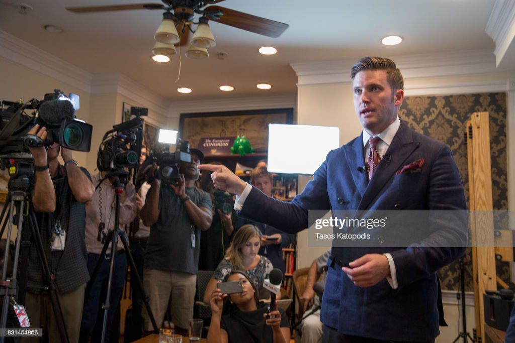 Alt Right Figure Richard Spencer Holds News Conference In Washington, D.C. : News Photo