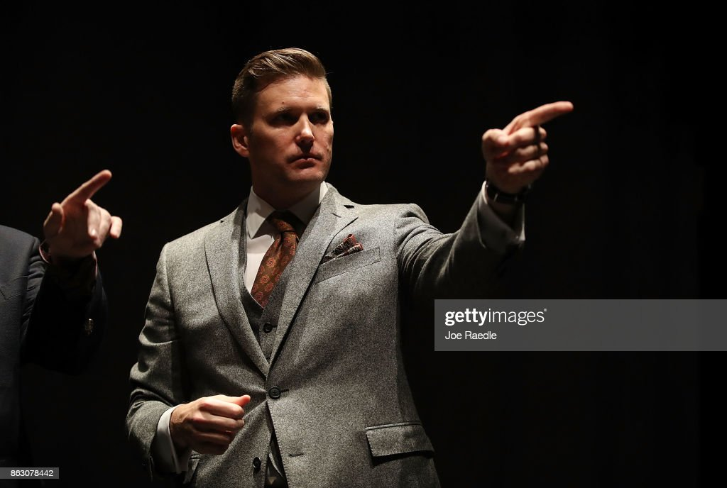 Tensions High As Alt-Right Activist Richard Spencer Visits U. Florida Campus : News Photo