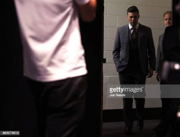 White nationalist Richard Spencer who popularized the term 'altright' arrives to speak at a press conference at the Curtis M Phillips Center for the...