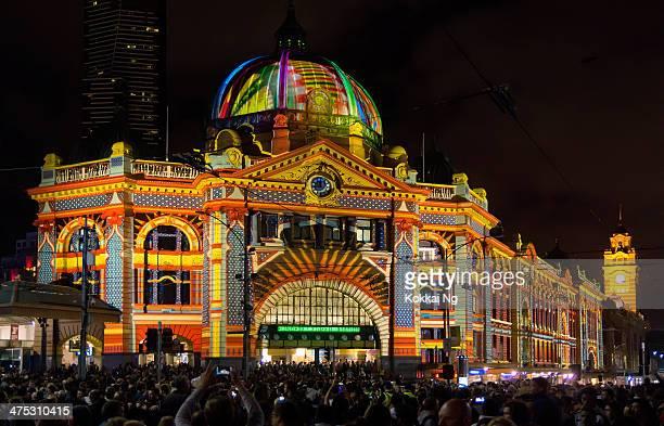 White Night Melbourne - Flinders St Station