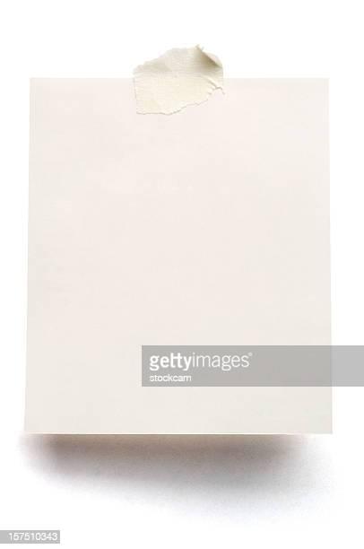 weißen hinweis papier isoliert - zusammenstellung stock-fotos und bilder