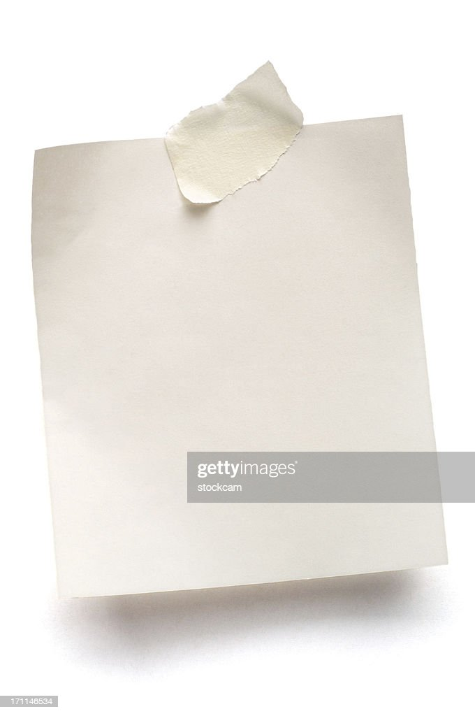 White note paper isolated : Stock Photo