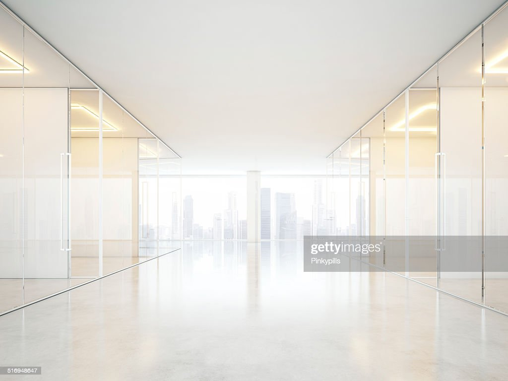 white office interior. Modren Office White Office Interior With Panoramic Windows  Stock Photo In Office Interior