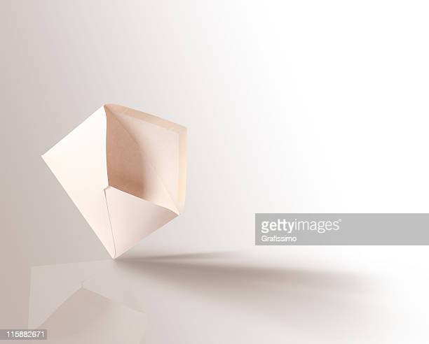 white open envelope - envelope stock pictures, royalty-free photos & images