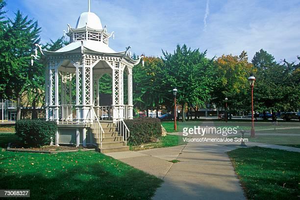 """White Pagoda built in 1877 in Washington Park, Dubuque, IA"""