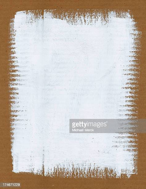 White Paint on Cardboard Background
