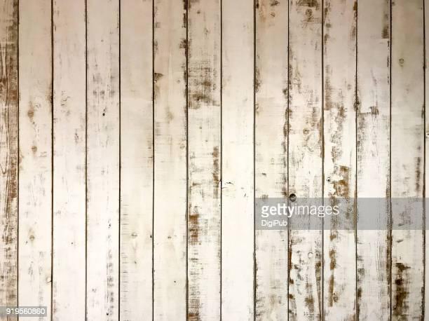 white painted plank wall texture interior - 打ち捨てられた ストックフォトと画像